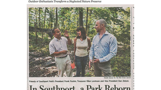 WALL STREET JOURNAL - IN SOUTHPORT, CONN., A PARK IS REBORN